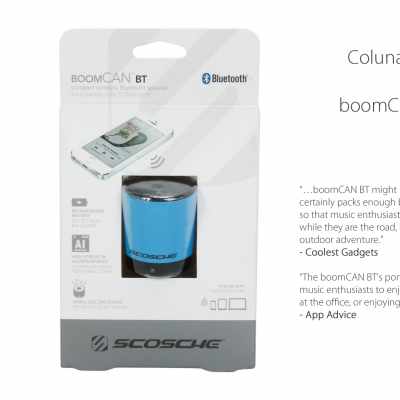 Coluna Scosche boomCAN BT COMPACT WIRELESS BLUETOOTH