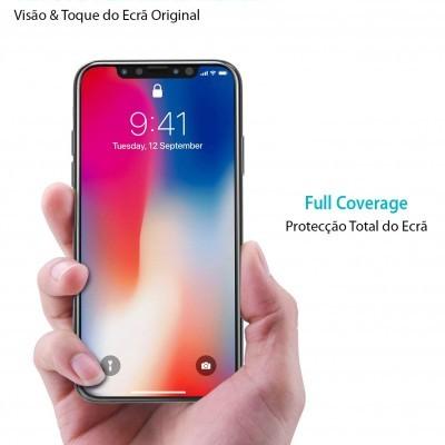 Películas de Protecção de Ecrã em Vidro Temperado 5D Full Nano Flex HD iPhone XS Max