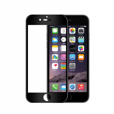 Películas de Protecção de Ecrã em Vidro Temperado 3D Full Screen Soft Edge iPhone 6/6S - Preto