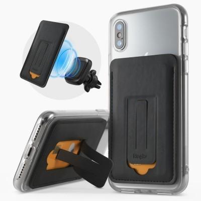 Porta Cartões Magnético Ringke com Suporte para Smartphone (3 em 1)