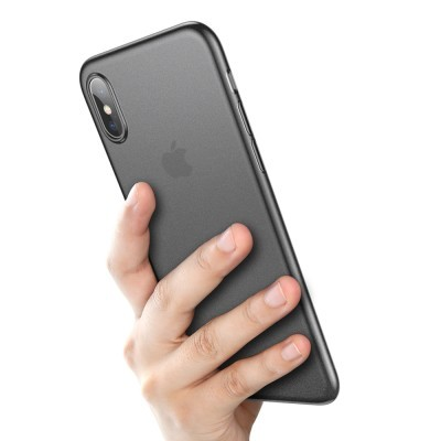 iPhone XS Max Capa Ultra Fina Baseus Wing - Preto Transparente