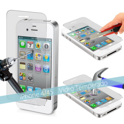 Películas de Protecção de Ecrã em Vidro Temperado iPhone 4/4S