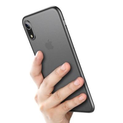 iPhone XR Capa Ultra Fina Baseus Wing - Preto Transparente