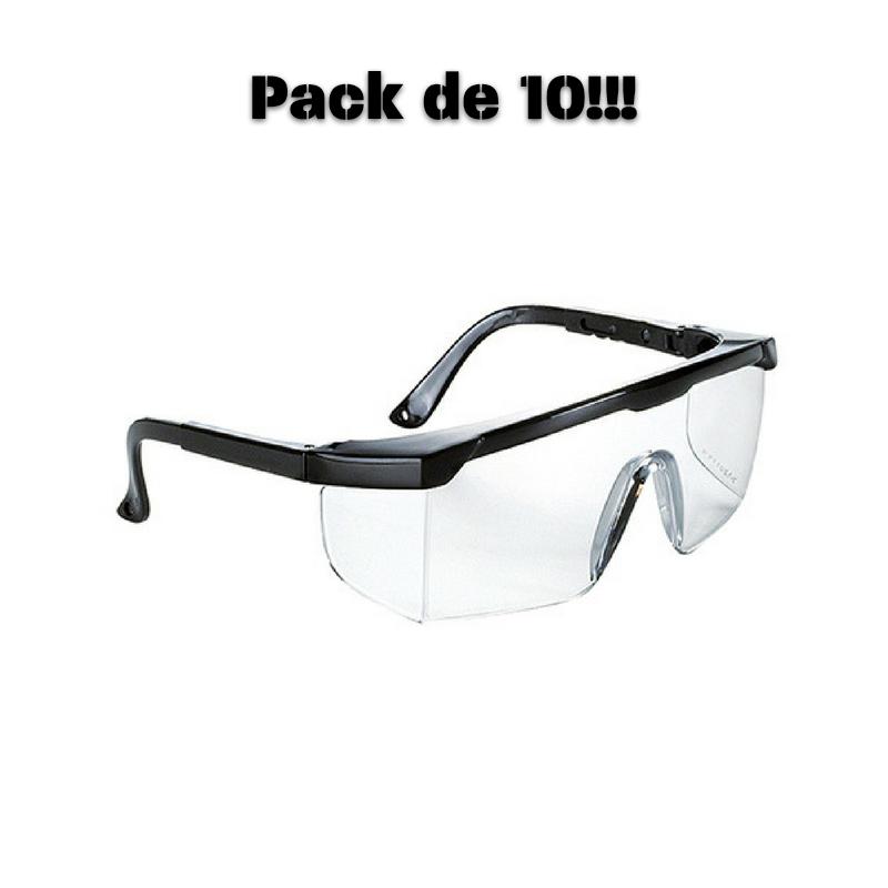 Óculos de Proteção Transparentes - PROMO PACK DE 10!!!