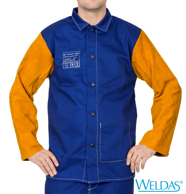Casaco WELDAS Yellowjacket Algodão Mangas de Pele 33-3060
