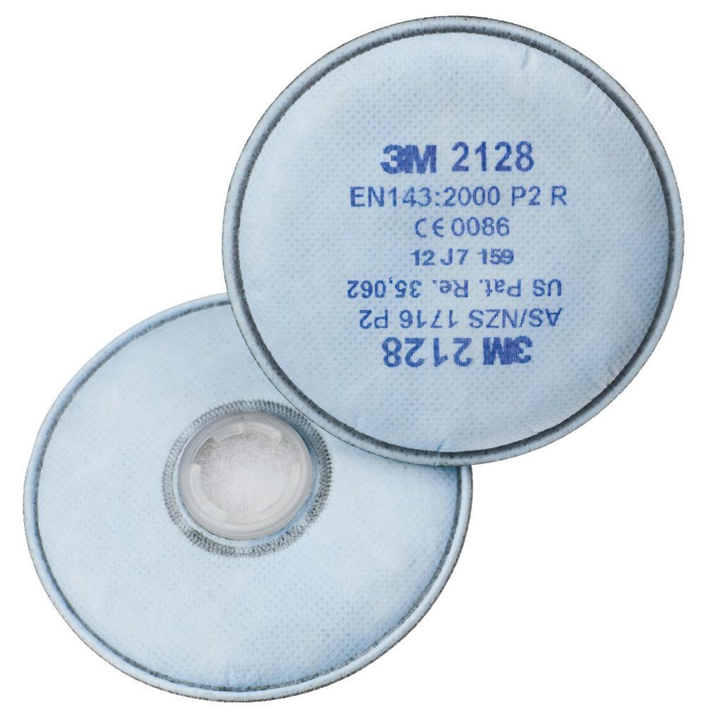 Par de filtros 3M 2128 A1 para Máscara Respiratória