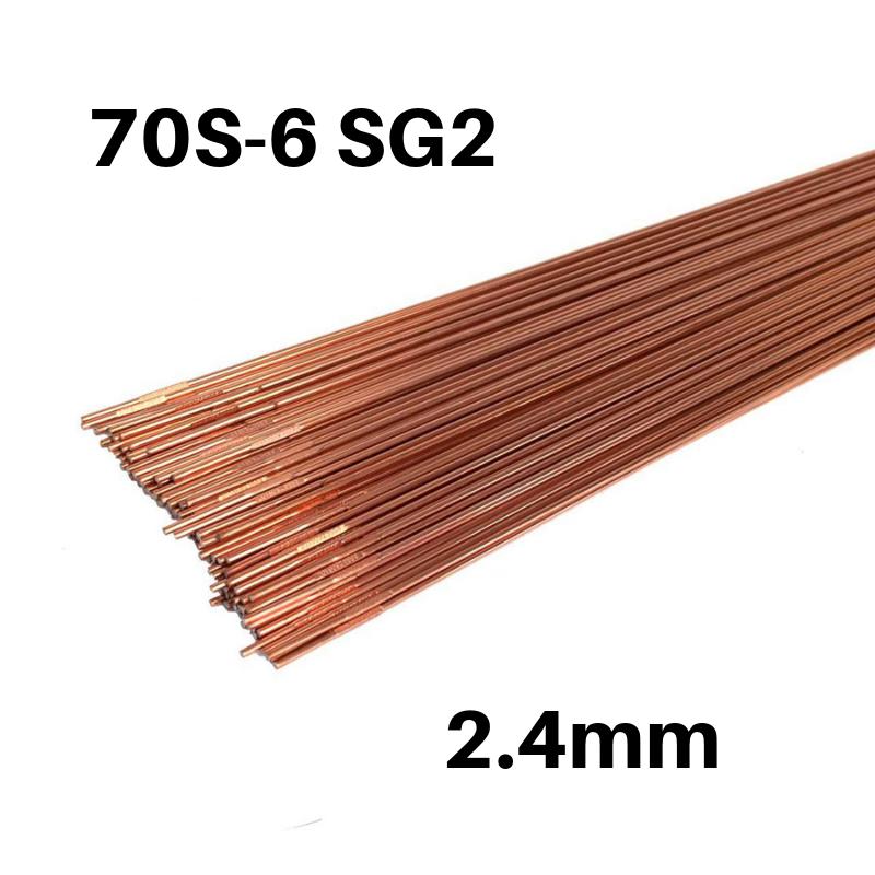 Vareta TIG Aço Carbono 70S-6 SG2 de 2.4mm - Caixa de 5kg