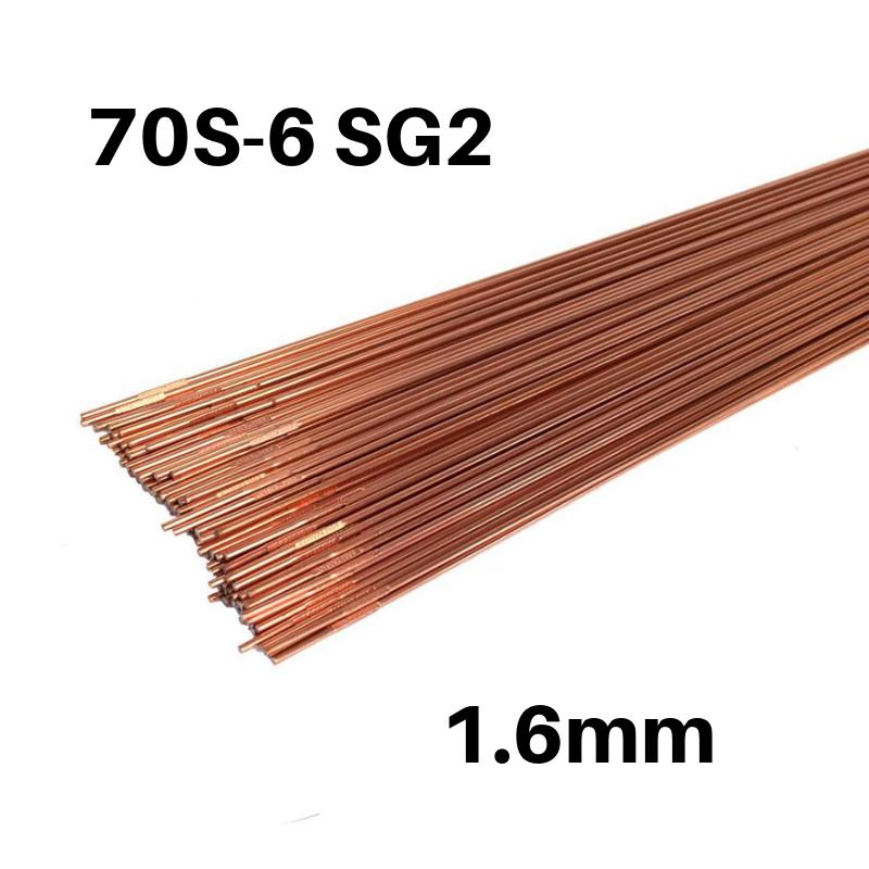 Vareta TIG Aço Carbono 70S-6 SG2 de 1.6mm - Caixa de 5kg