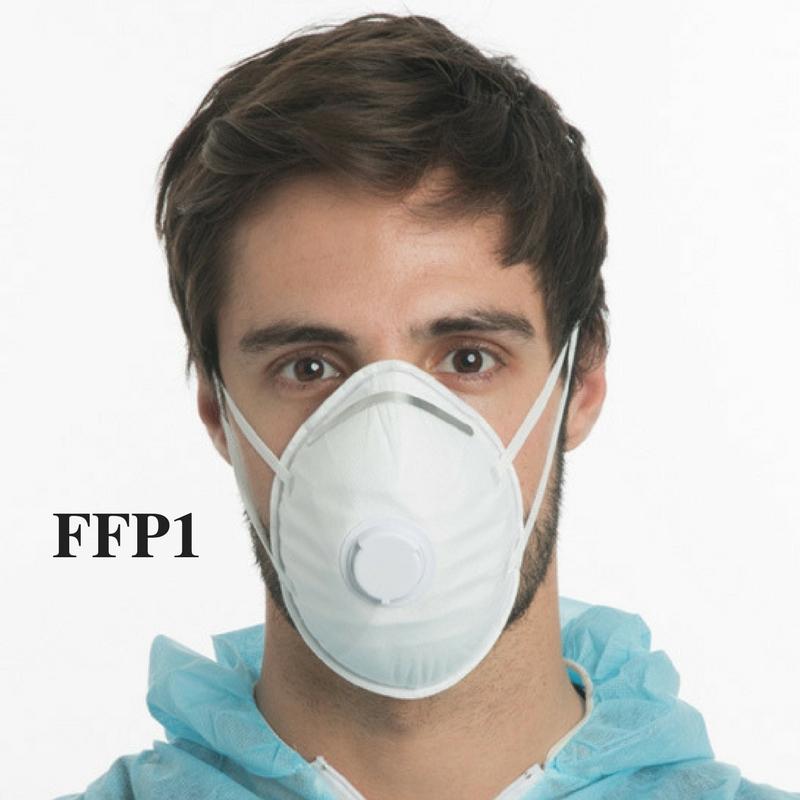 Máscara Descartável Filtrante FFP1 com Válvula (pack de 10)