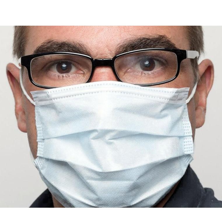 50 Máscaras Cirúrgicas Descartáveis - Coronavirus