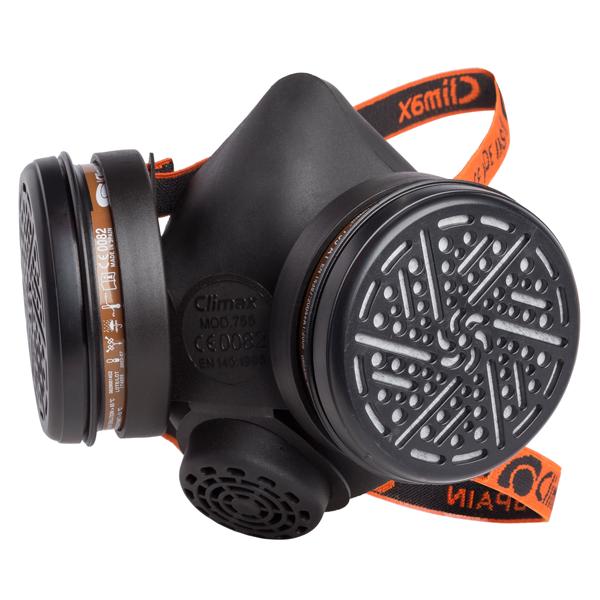 Máscara Respiratória CLIMAX 755 com 2 filtros A1 Incluídos