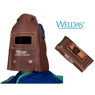 Máscara dobrável WELDAS em couro 44-7111