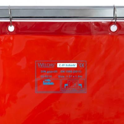 Cortina de Soldadura WELDAS 1.37 x 1.80m com Ilhoses e Ganchos Incluídos