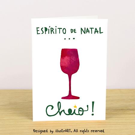 """Cartão de Natal """"Vinho"""""""