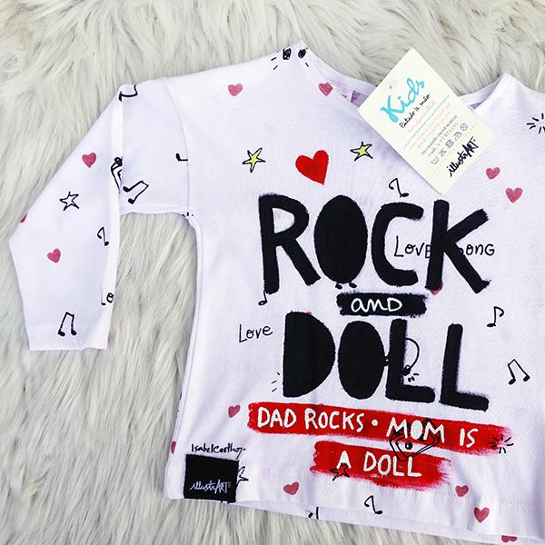tshirt/camisola rock & doll