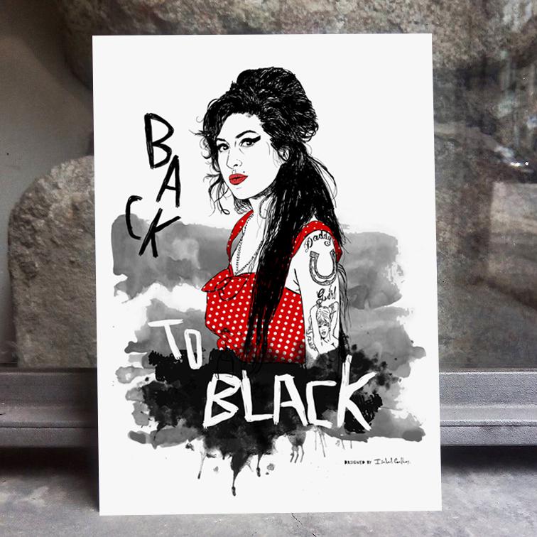 Ilustração Amy Winehouse