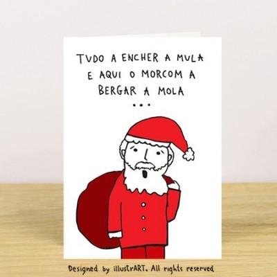 CARTÃO PAI NATAL À PORTO