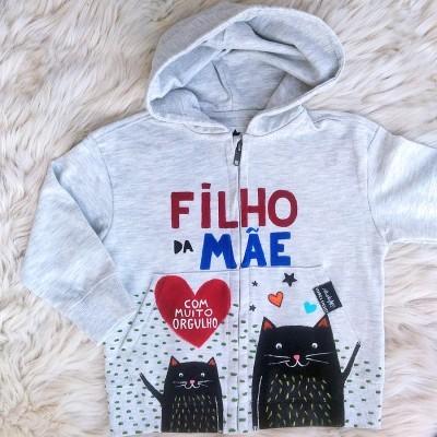 CASACO FILHO DA MÃE (cinza) + tamanhos