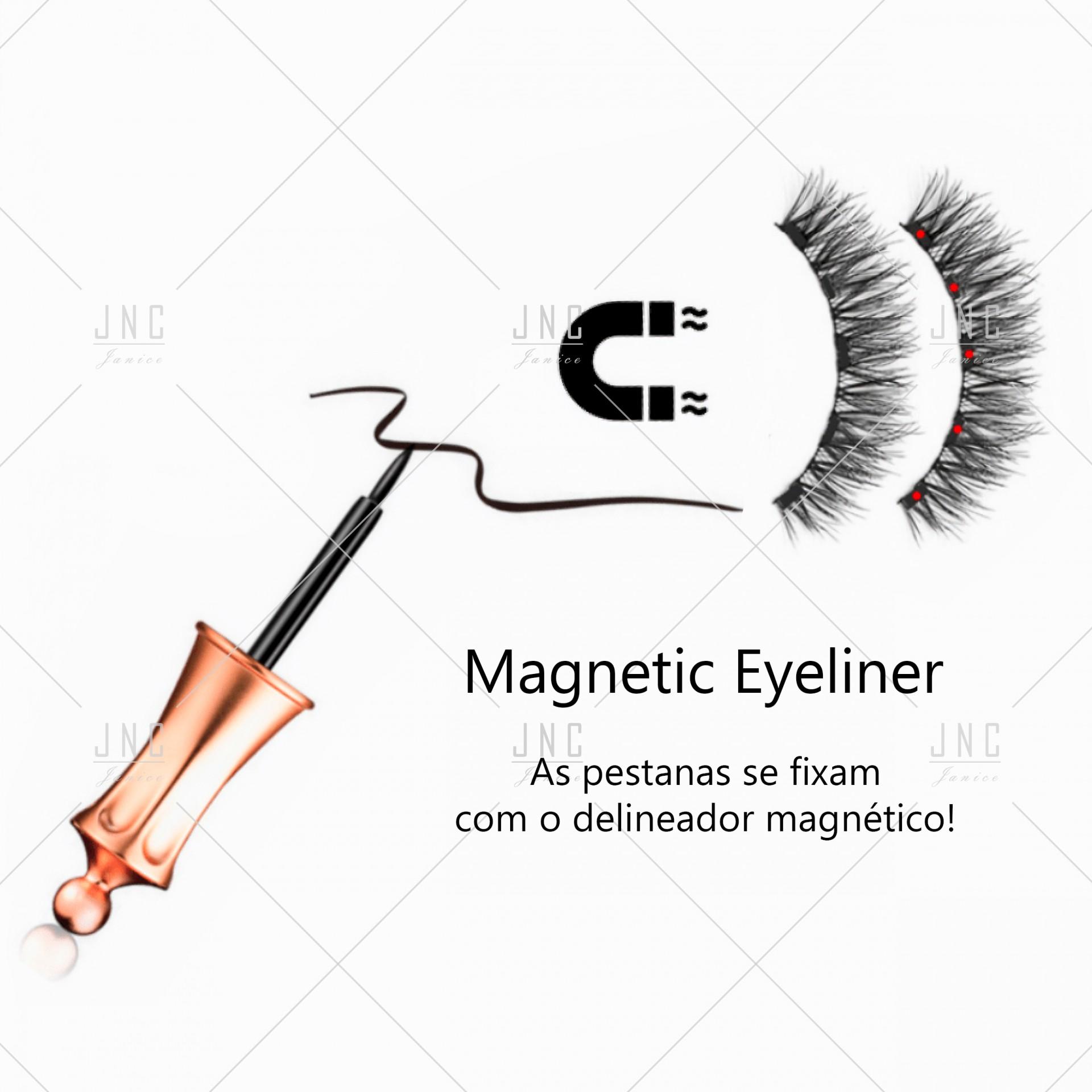 Pestanas Magnéticas com Eyeliner - Doha-05 | Ref.862063