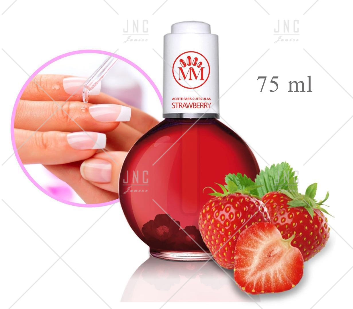 Óleo Hidratante para Cutículas - Morango | Ref.515519