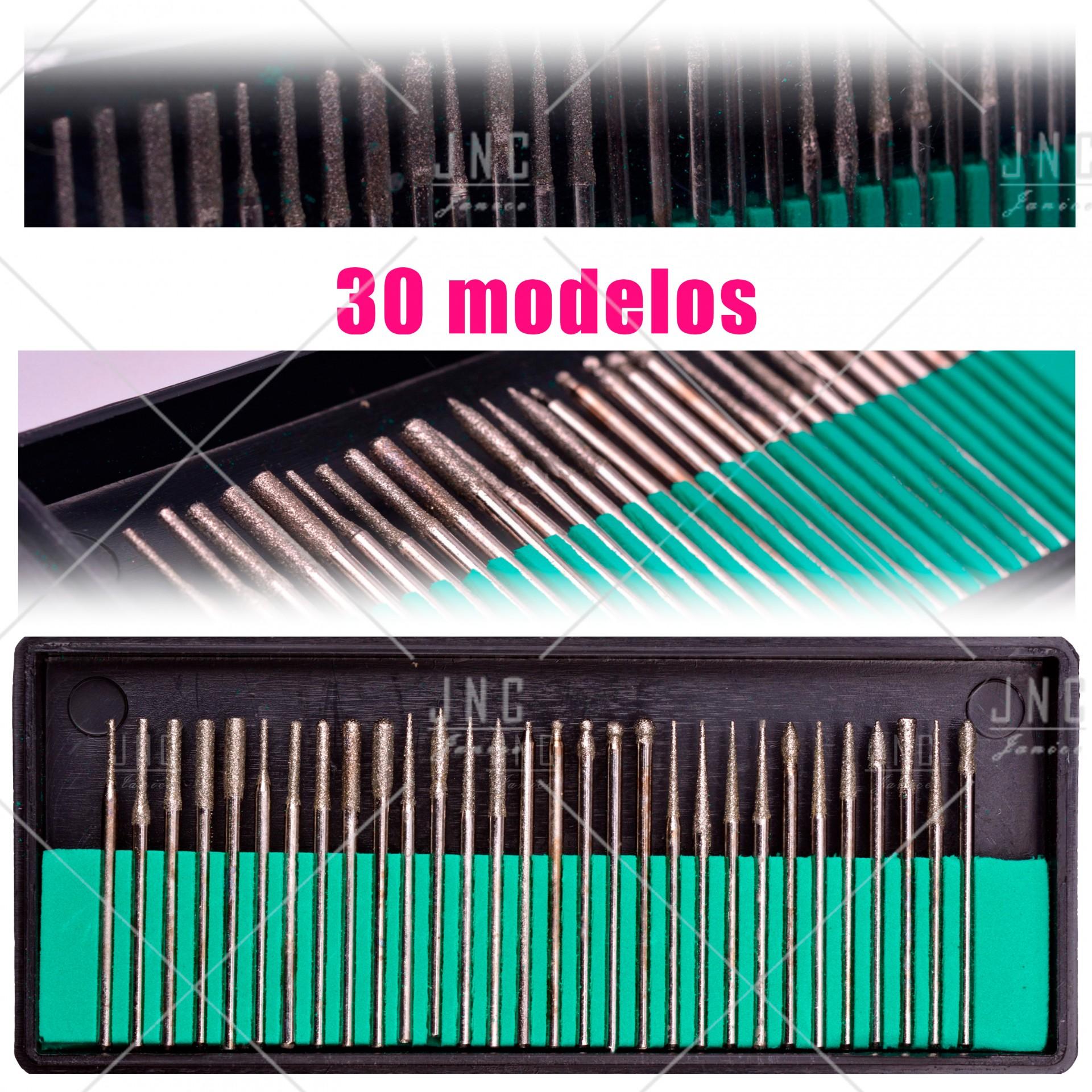 Kit Acessórios Set Manicure - 30 Brocas   Ref.860799