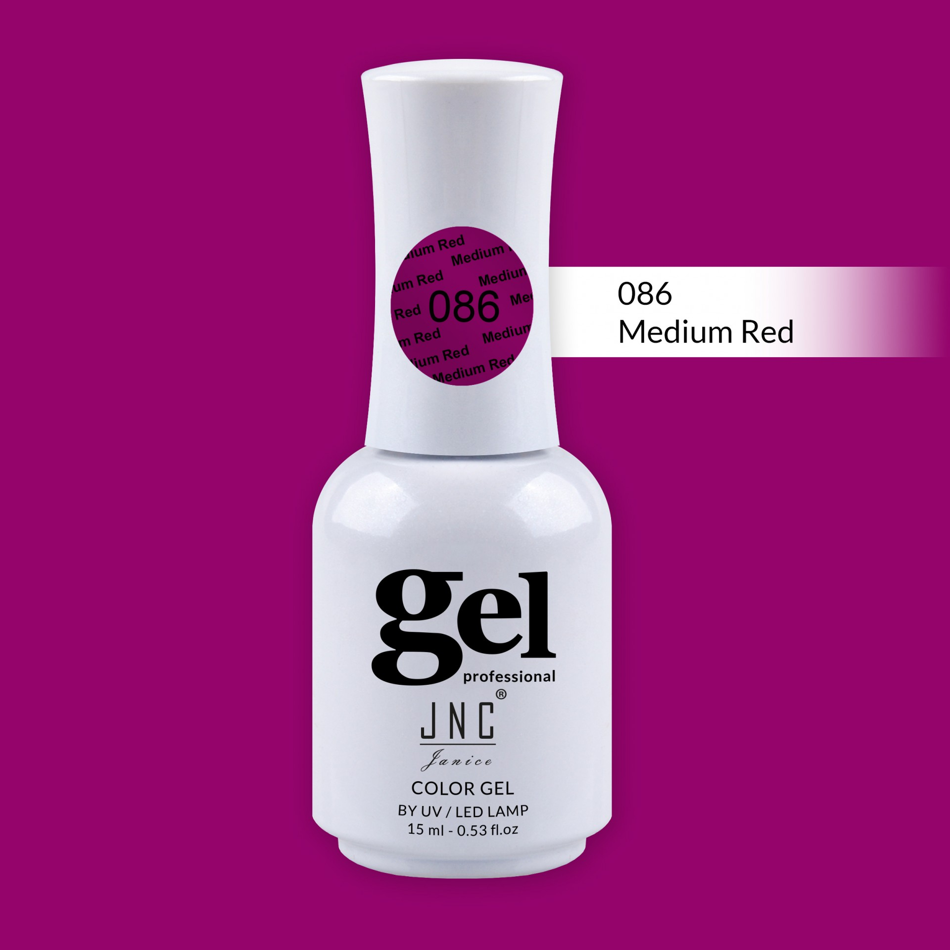 Verniz Gel 086 - Medium Red