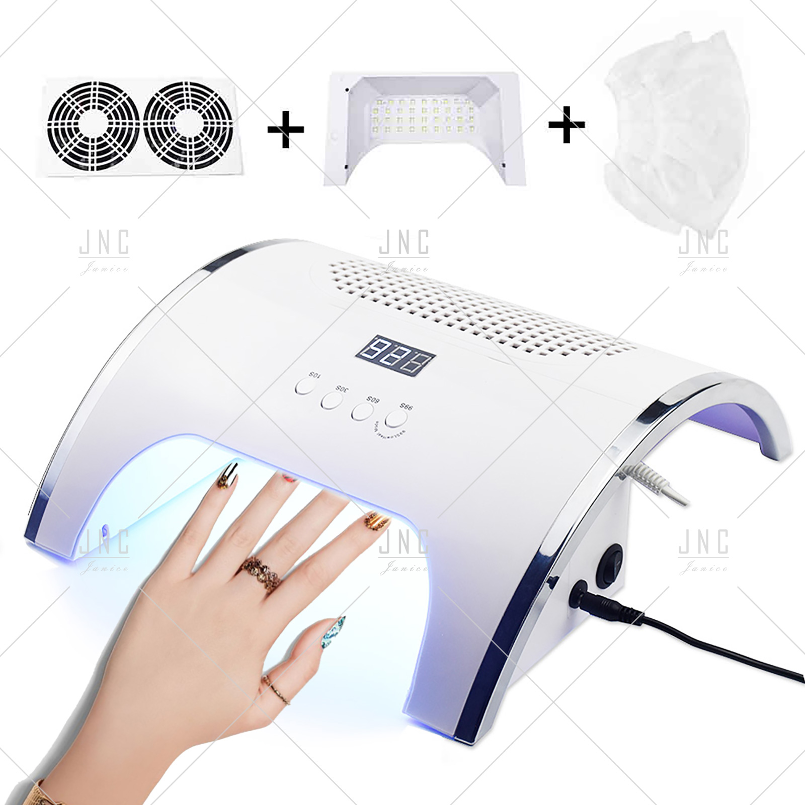2 in 1 - Nail Lamp & Fan | Catalisador e Aspirador 80W | Ref.861867