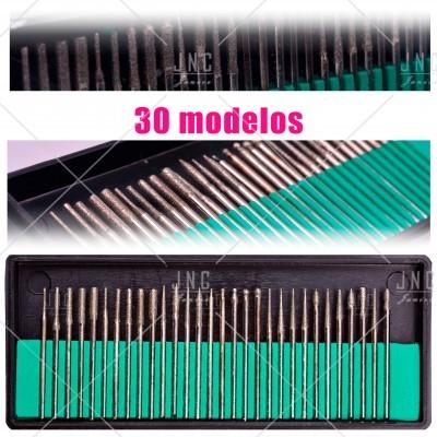 Kit Acessórios Set Manicure - 30 Brocas | Ref.860799