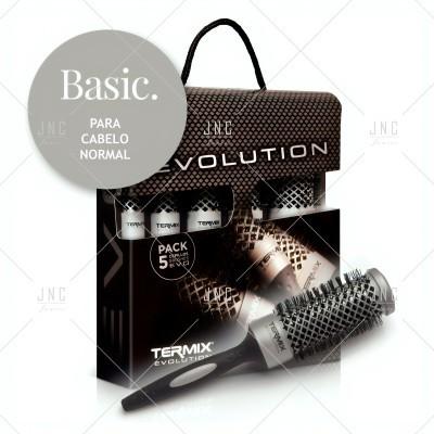 Pack Escovas Cabelo Basic - TERMIX EVOLUTION | Ref. 240514