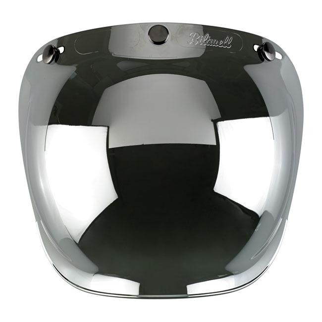 Viseira Bolha BILTWELL Chrome Mirror / Smoke Tint