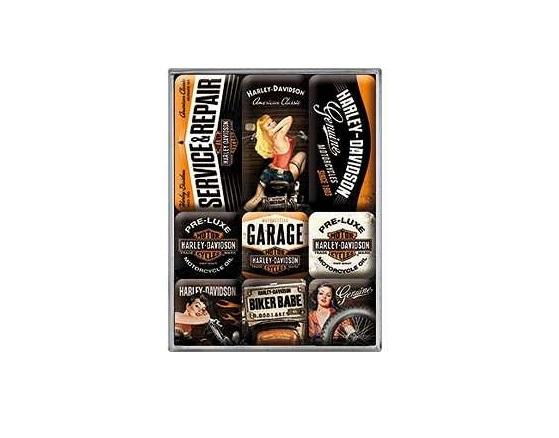 Conjunto de Magnetos Harley Davidson Garage