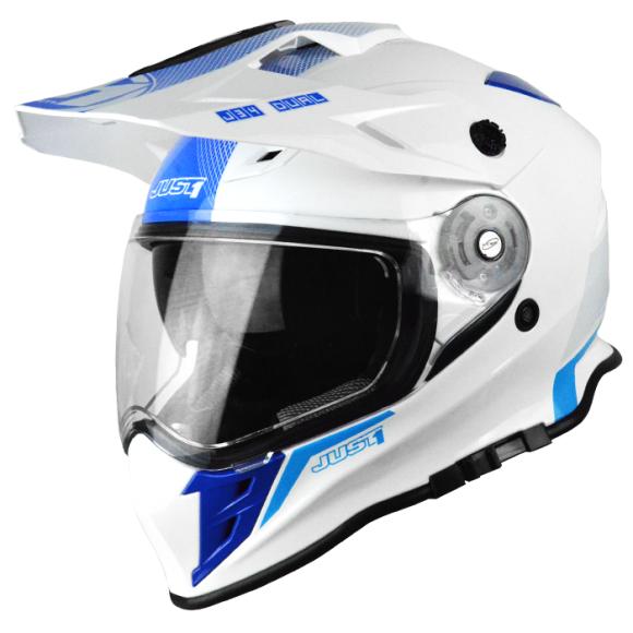 Capacete Just1 J34 Branco/Azul