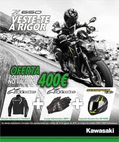 Kawasaki Z650 com oferta de equipamento