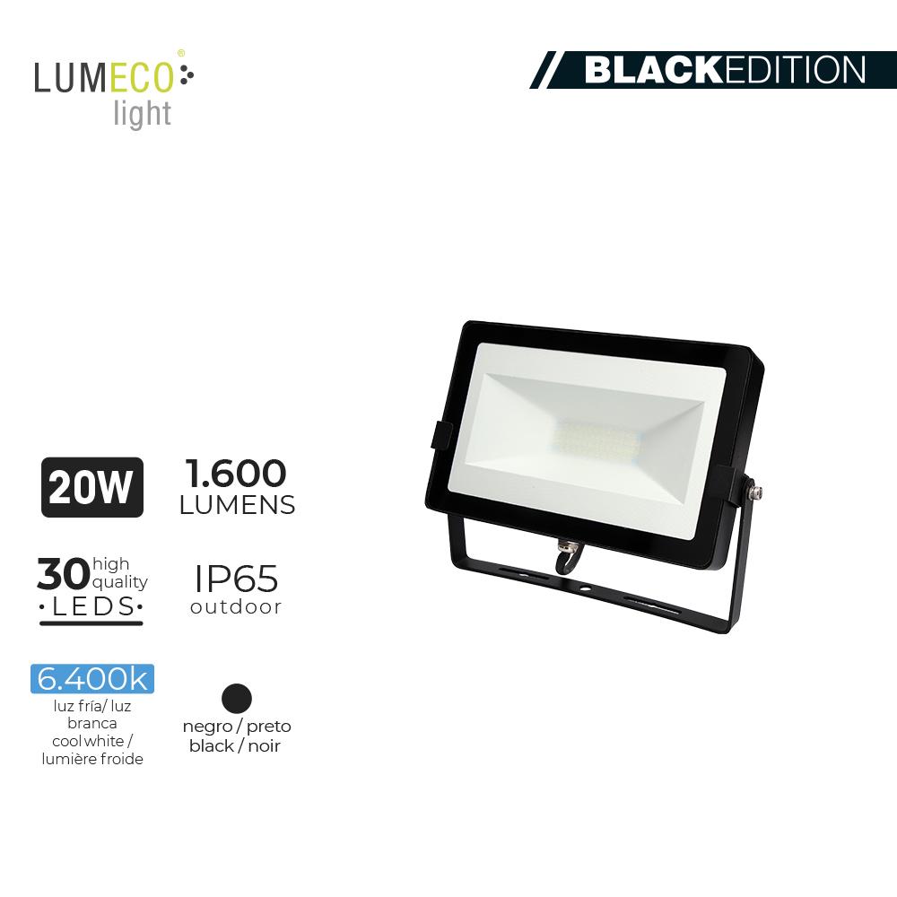 "Projetor LED 30W  ""Black Edition"""