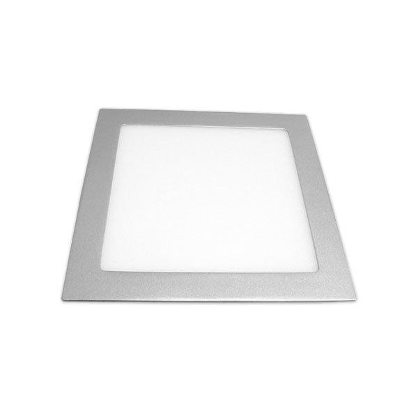 Painel LED Quadrado 6W Prateado