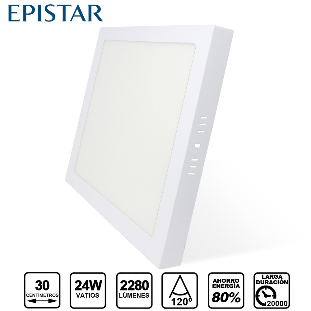 PLAFON LED  Quadrado  24W Branco