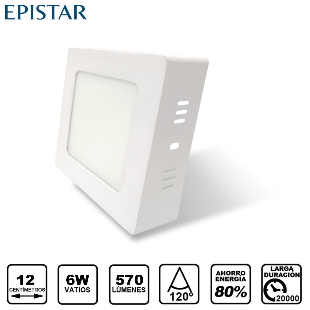 Painel LED Saliente Quadrado 6W Branco
