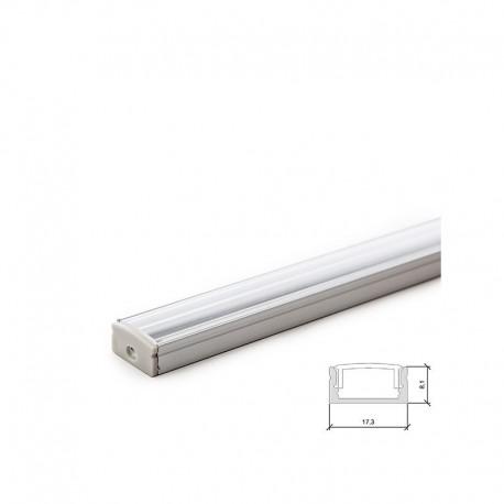 """Perfi de Alumínio  """"U"""" para Fita de LEDs"""