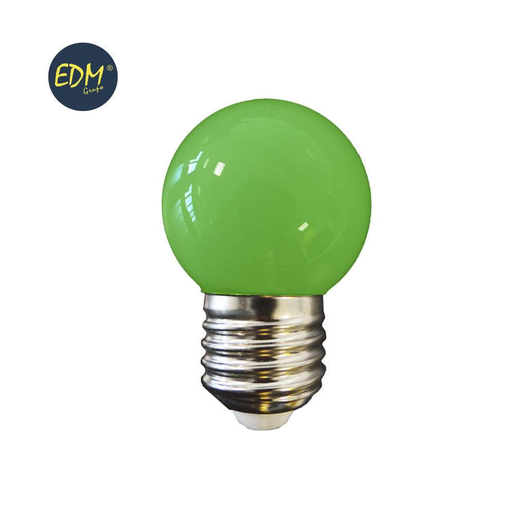 LAMPADA LED E27 G45 1,5W VERDE