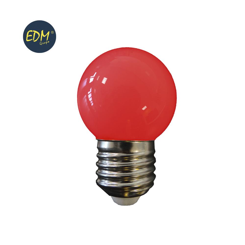 LAMPADA LED E27 G45 1,5W VERMELHO