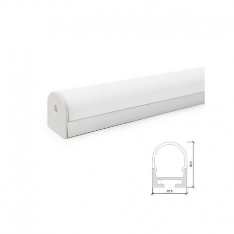 Perfi Alumínio para Fita LEDs Curvado para Teto ou Suspensão
