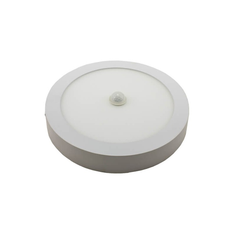 Painel LED Saliente Redondo 18W C/Sensor Movimentos