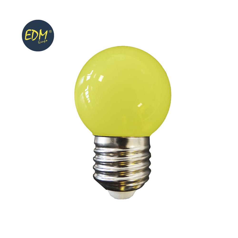 LAMPADA LED E27 G45 1,5W AMARELA