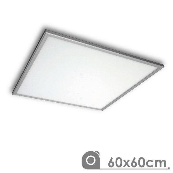 Painel LED 600x600 40W Prateado Saliente/Encastrar