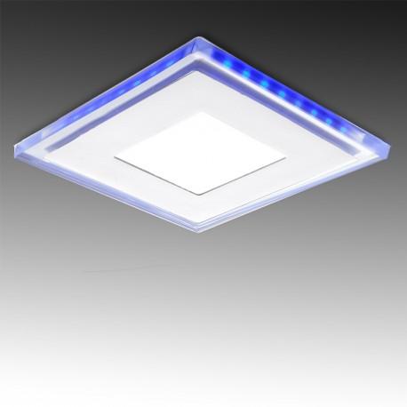Downlight de LEDs Quadrado com Vidro DUO 10W