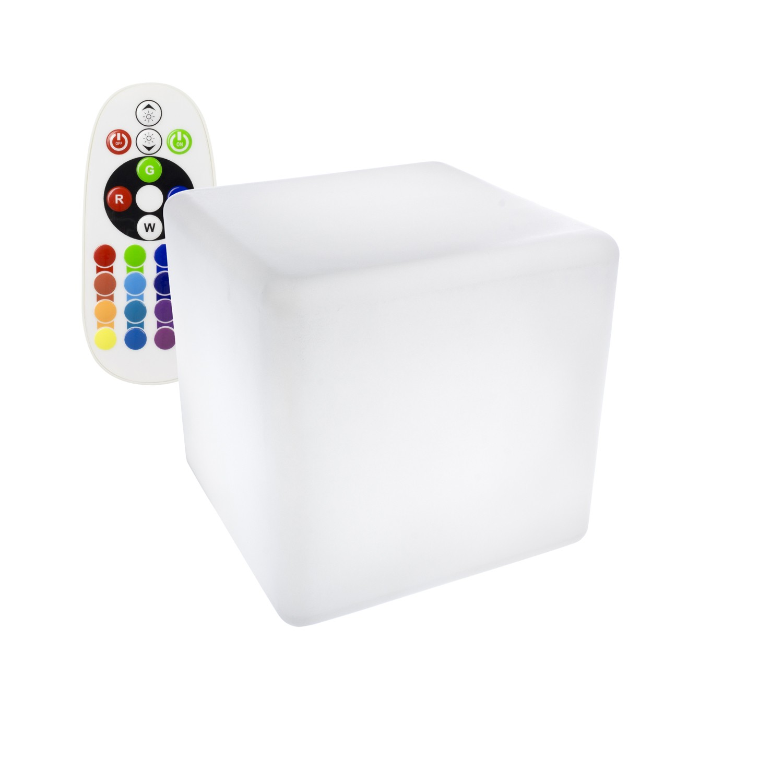 Aluguer de Cubo LED RGBW Recarregável 30x30CM