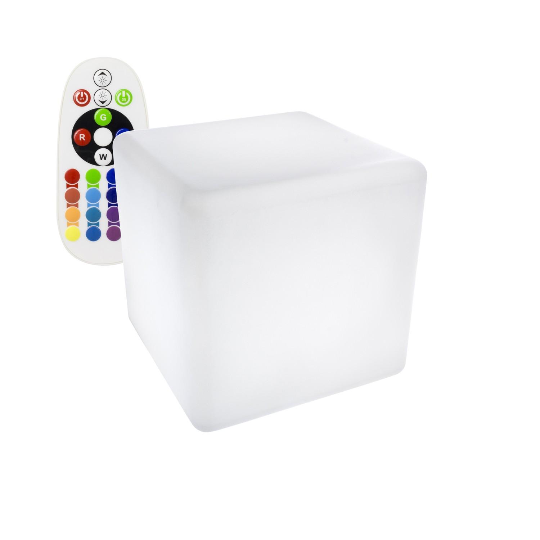 Cubo LED RGBW Recarregável 30x30CM