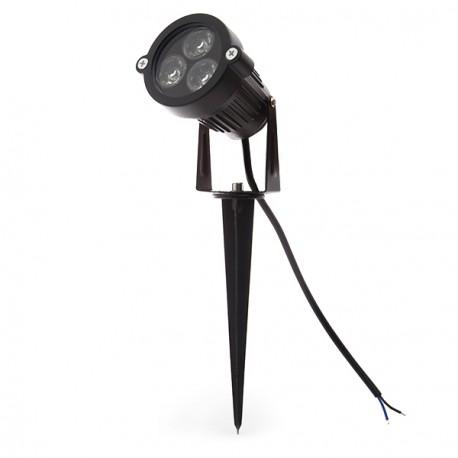 Foco LED 3W com Espeto para Jardins
