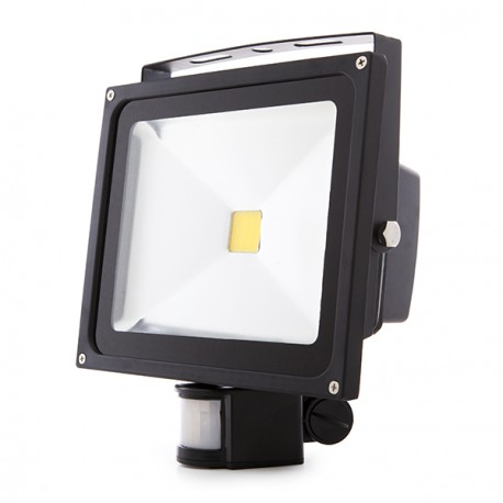 Projetor LED IP65 Detector de Movimento 30W
