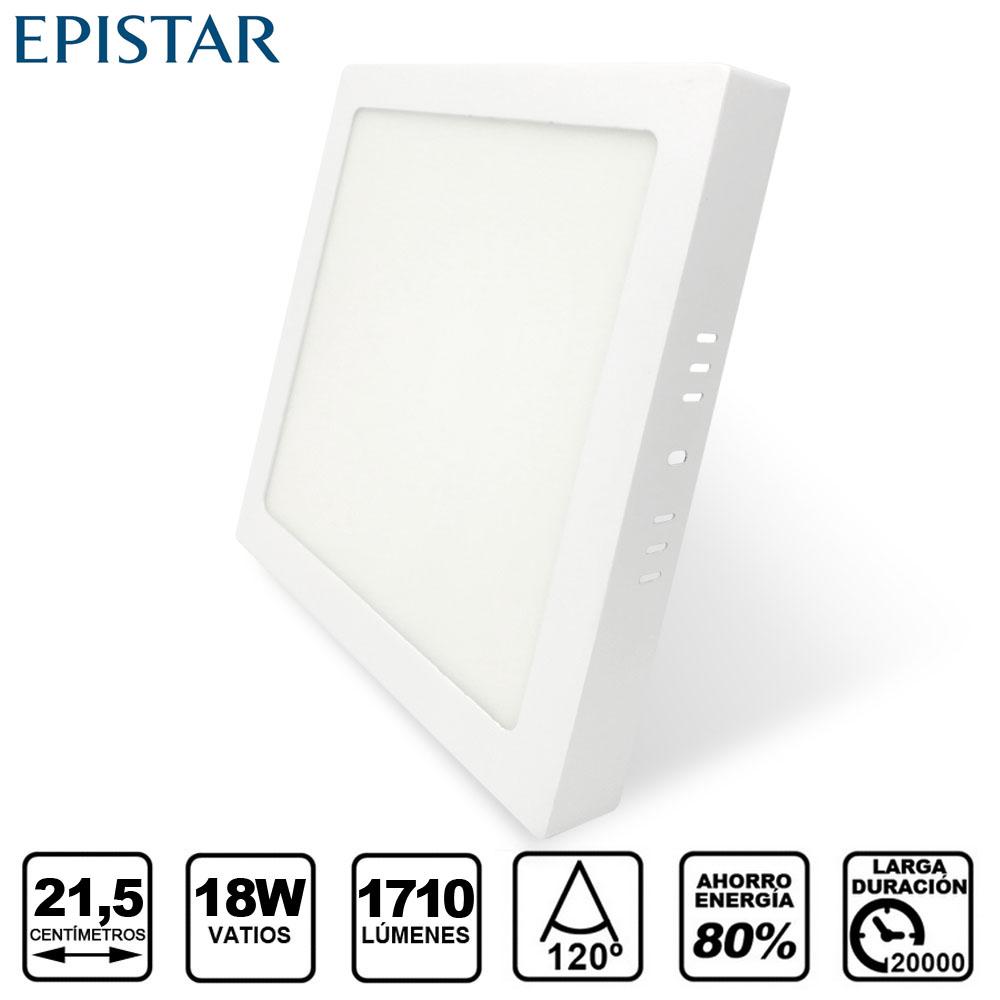Painel LED Saliente Quadrado 18W Branco